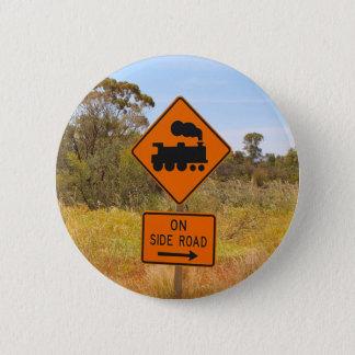 Bóton Redondo 5.08cm Sinal locomotivo do motor do trem, Austrália