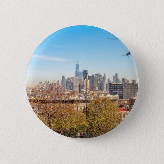 Bóton Redondo 5.08cm Skyline da Nova Iorque