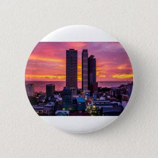 Bóton Redondo 5.08cm Skyline de Manila Filipinas