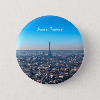 Bóton Redondo 5.08cm Skyline de Paris