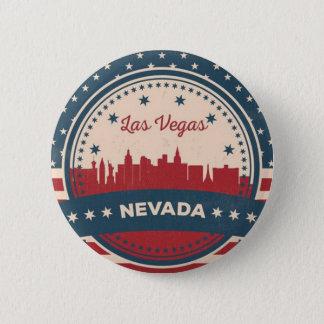 Bóton Redondo 5.08cm Skyline retro de Las Vegas