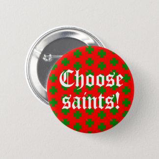 Bóton Redondo 5.08cm Slogan de Saints_Aplenty (edição #2 do Natal)
