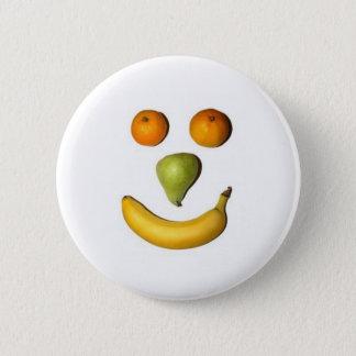 Bóton Redondo 5.08cm Smiley da fruta/botão feliz da cara