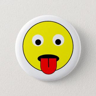 Bóton Redondo 5.08cm Smiley da língua