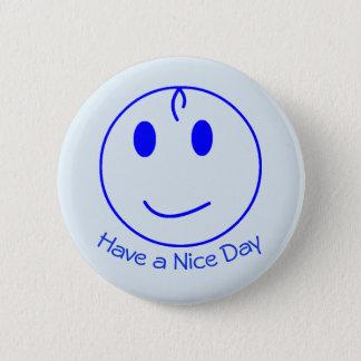 Bóton Redondo 5.08cm Smiley face azul
