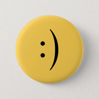 Bóton Redondo 5.08cm Smiley face com o botão dos dois pontos e do