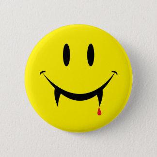 Bóton Redondo 5.08cm Smiley face do vampiro