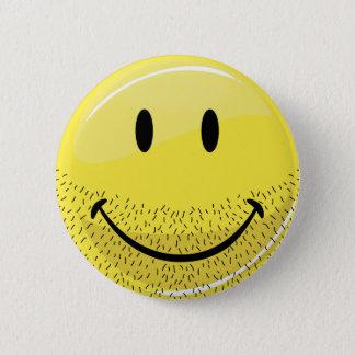 Bóton Redondo 5.08cm Smiley face farpado do pavão-do-mar empoeirado