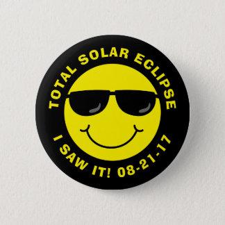Bóton Redondo 5.08cm Smiley face legal total do eclipse solar