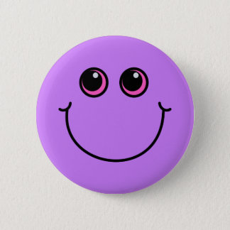 Bóton Redondo 5.08cm Smiley face roxo