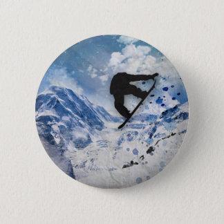 Bóton Redondo 5.08cm Snowboarder em vôo
