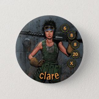 Bóton Redondo 5.08cm Soldados dos homens de botão: Clare