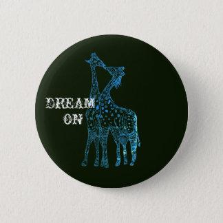 Bóton Redondo 5.08cm Sonho em Girafes que tira em volta do crachá
