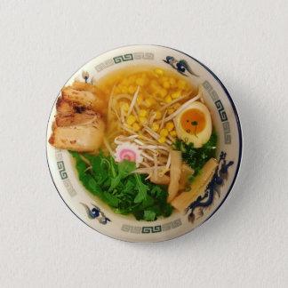 Bóton Redondo 5.08cm Sopa de macarronete dos Ramen da carne de porco