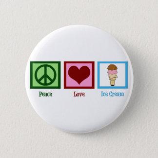 Bóton Redondo 5.08cm Sorvete do amor da paz