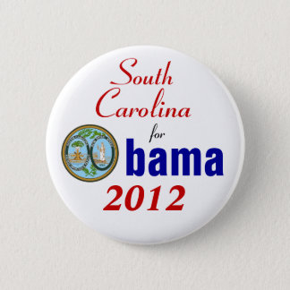 Bóton Redondo 5.08cm South Carolina para Obama 2012