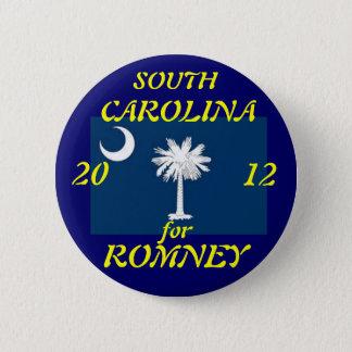 Bóton Redondo 5.08cm South Carolina para Romney 2012