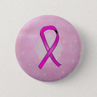 Bóton Redondo 5.08cm sparkles da fita de câncer de mama