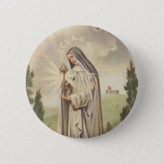 Bóton Redondo 5.08cm St. Clare de Assisi