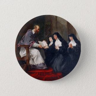 Bóton Redondo 5.08cm St. Francoise com St. Jeanne
