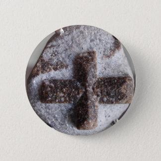 Bóton Redondo 5.08cm Staurolite, intersecção de cristal perfeita