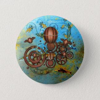 Bóton Redondo 5.08cm Steampunk alinha o botão do cobre do Aqua da