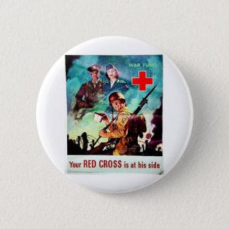 Bóton Redondo 5.08cm Sua cruz vermelha