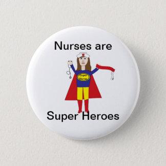Bóton Redondo 5.08cm Super-herói das enfermeiras (Brunette)