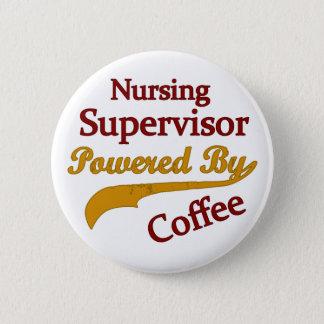 Bóton Redondo 5.08cm Supervisor dos cuidados psto pelo café