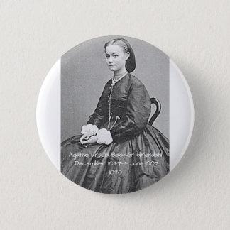Bóton Redondo 5.08cm Suporte Grondahl de Ágata Ursula, 1870