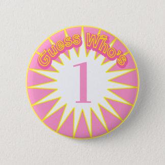 Bóton Redondo 5.08cm Suposição que é… botão do aniversário (Starburst