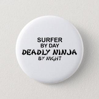Bóton Redondo 5.08cm Surfista Ninja mortal em a noite