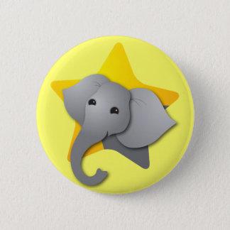 Bóton Redondo 5.08cm Surpresa cinzenta do elefante! estrela