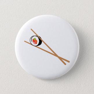 Bóton Redondo 5.08cm Sushi e Chopsticks