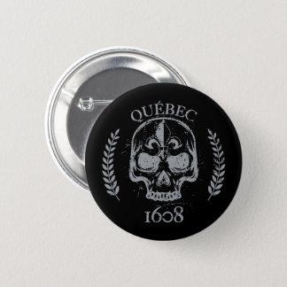 Bóton Redondo 5.08cm Suspiro recheado Quebeque Skull/Crânio biker