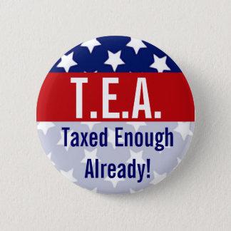 Bóton Redondo 5.08cm T.E.A. Taxado bastante já botões do tea party