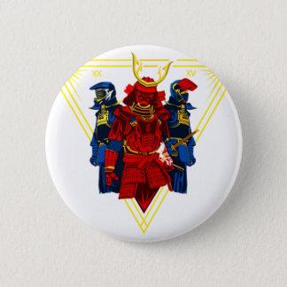 Bóton Redondo 5.08cm T-shirt do grupo do samurai do motociclista