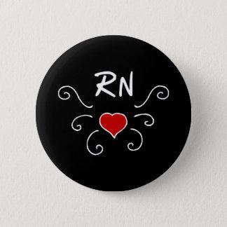 Bóton Redondo 5.08cm Tatuagem do amor da enfermeira do RN