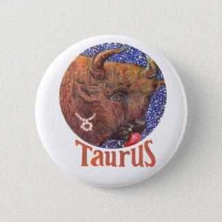 Bóton Redondo 5.08cm Taurus - crachá do zodíaco