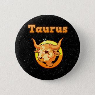 Bóton Redondo 5.08cm Taurus do sinal do zodíaco