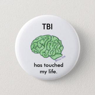 "Bóton Redondo 5.08cm ""TBI tocou botão na minha vida"""