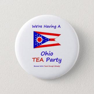 Bóton Redondo 5.08cm Tea party de Ohio - nós somos taxados bastante já!