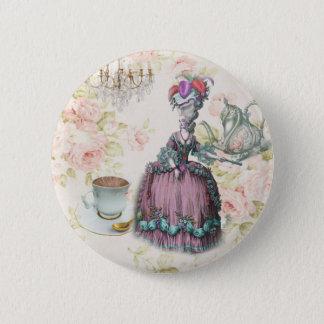 Bóton Redondo 5.08cm Tea party floral francês Marie Antoinette de Paris