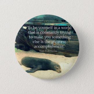 Bóton Redondo 5.08cm Tema de inspiração da praia das citações da vida