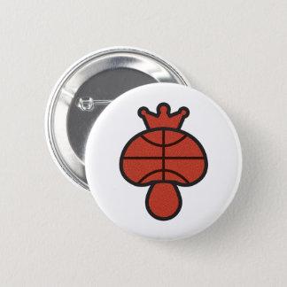 Bóton Redondo 5.08cm Tema do basquetebol do cogumelo