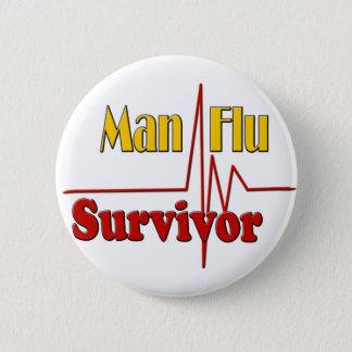 Bóton Redondo 5.08cm Tema do sobrevivente da gripe do homem