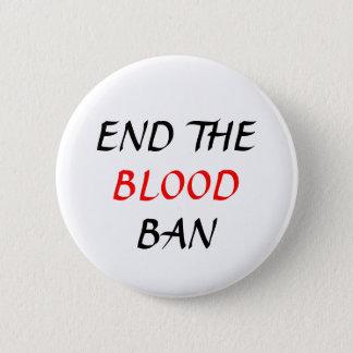 Bóton Redondo 5.08cm Termine o pino da planície da proibição do sangue