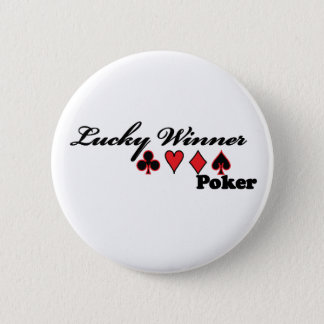 Bóton Redondo 5.08cm Ternos afortunados do cartão do póquer do vencedor