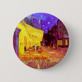 Bóton Redondo 5.08cm Terraço do café de Van Gogh na noite