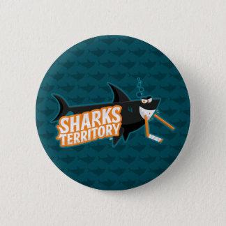 Bóton Redondo 5.08cm Território dos tubarões - botão